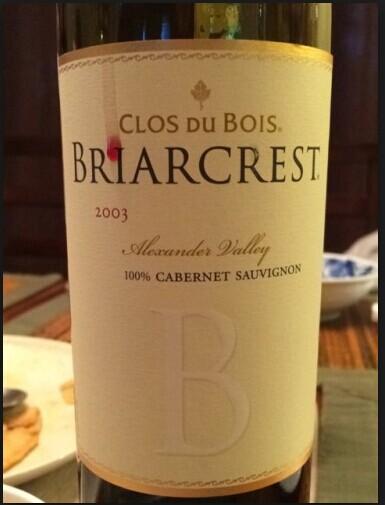 宝林酒堡布利亚克莱斯特赤霞珠干红Clos du Bois Briarcrest Cabernet Sauvignon