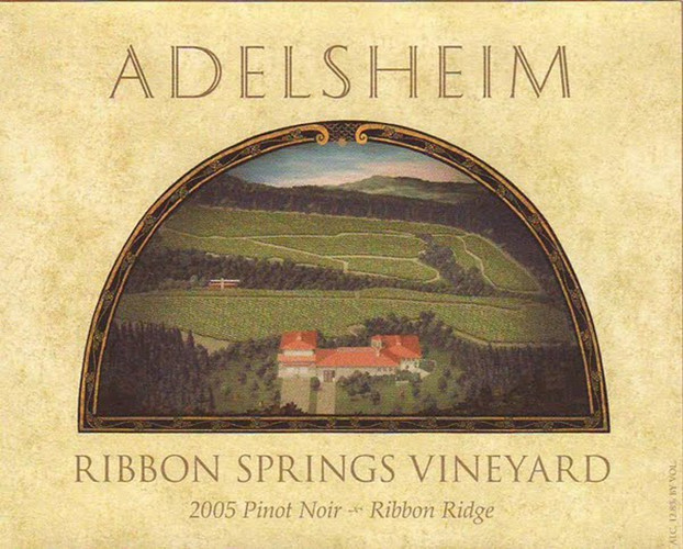 爱德森汇泉园黑皮诺干红Adelsheim Vineyard Ribbon Springs Vineyard Pinot Noir