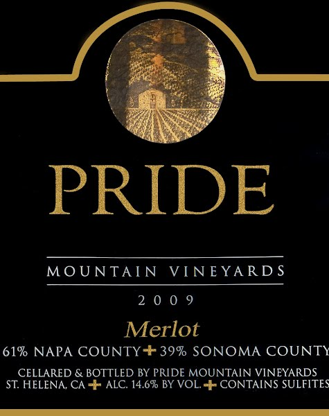 傲山梅洛干红Pride Mountain Vineyards Merlot
