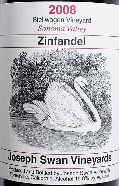 约瑟夫斯旺斯戴瓦根园仙粉黛干红Joseph Swan Vineyards Stellwagen Vineyard Zinfandel