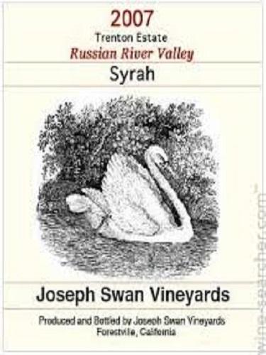 约瑟夫斯旺特伦顿庄园西拉干红Joseph Swan Vineyards Trenton Estate Vineyard Syrah