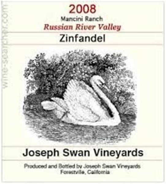 约瑟夫斯旺曼奇尼园仙粉黛干红Joseph Swan Vineyards Mancini Ranch Zinfandel