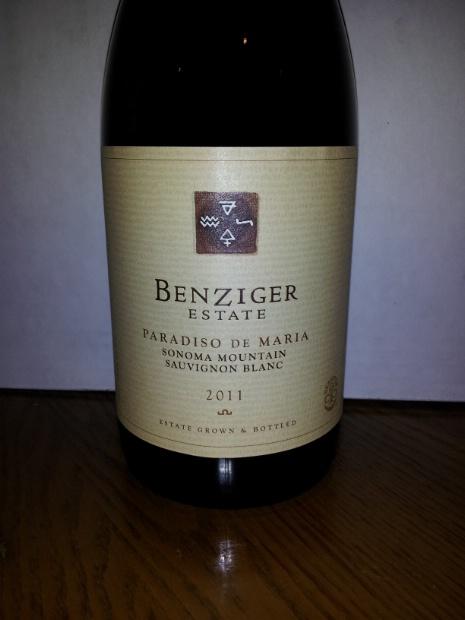 本齐格德玛丽亚天堂长相思干白Benziger Family Winery Paradiso de Maria Sauvignon Blanc