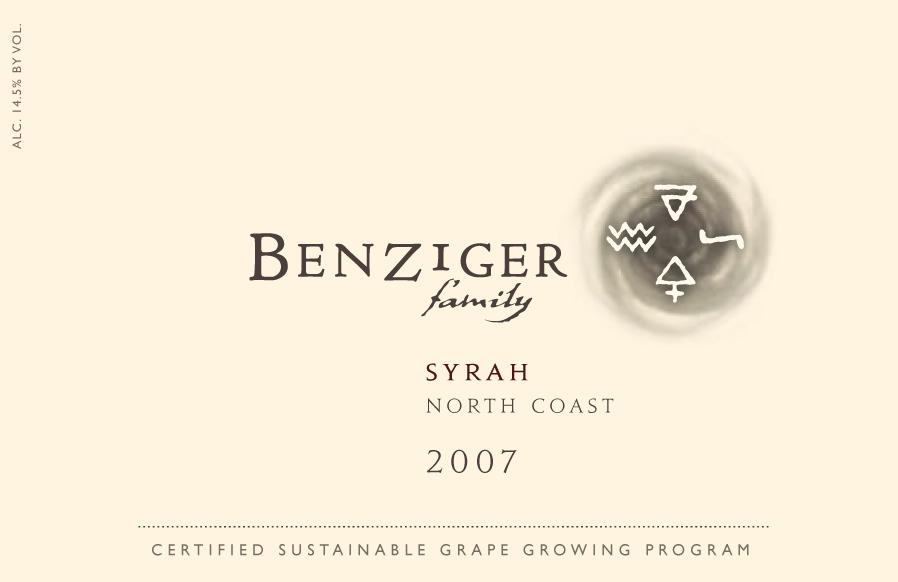 本齐格北部西拉干红Benziger Family Winery North Coast Syrah