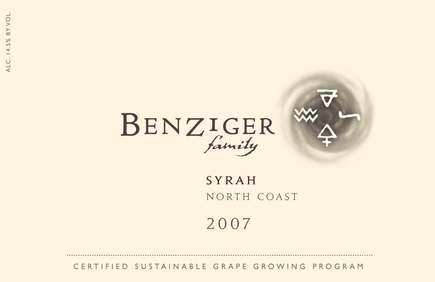 本齐格北部西拉干红Benziger Family Winery North Coast Syrah