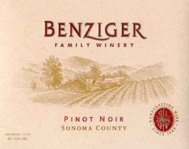Benziger Pinot Noir Sonoma County Reserve