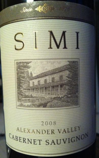 思美亚历山大谷赤霞珠干红Simi Winery Cabernet Sauvignon