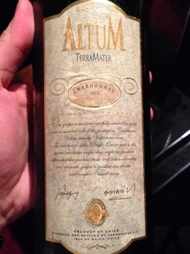 特雷玛特安特兰系列霞多丽干白TerraMater Altum Chardonnay