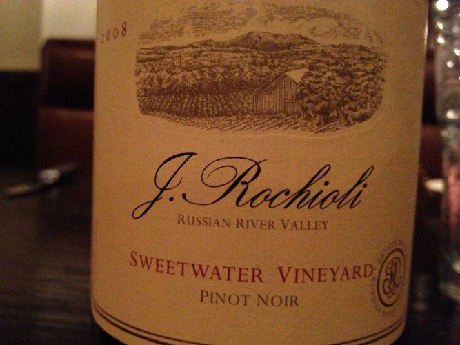鲁奇奥尼甜水园黑皮诺干红Rochioli Sweetwater Vineyard Pinot Noir