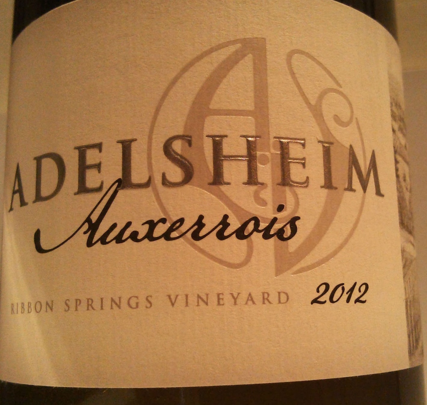 爱德森涌泉园欧塞瓦干白Adelsheim Vineyard Ribbon Springs Vineyard Auxerrois