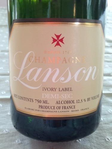 岚颂象牙白标半干香槟Champagne Lanson Ivory Label Demi-Sec