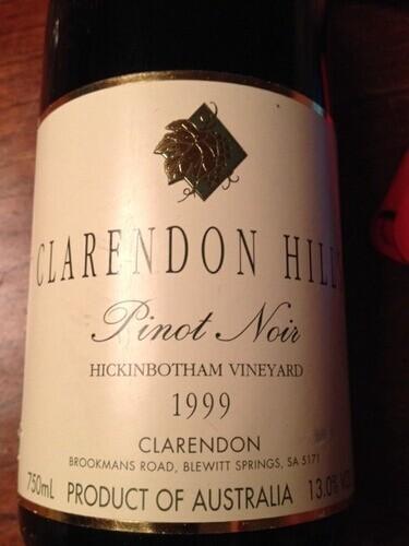 克拉伦敦山希金博特园黑皮诺干红Clarendon Hills Hickinbotham Pinot Noir