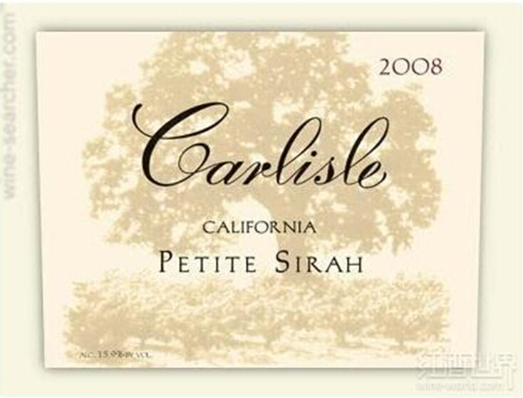 卡尔丽丝小西拉干红Carlisle Petite Sirah