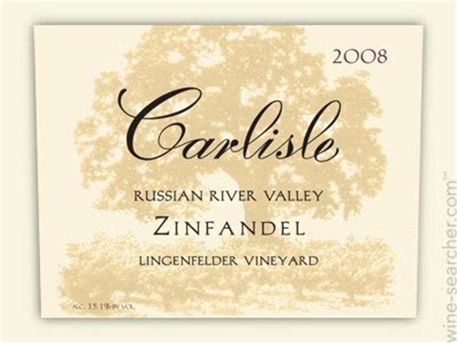 卡尔丽丝林根菲尔德园仙粉黛干红Carlisle Lingenfelder Vineyard Zinfandel