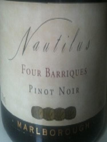 鹦鹉螺四桶黑皮诺干红Nautilus Four Barriques Pinot Noir