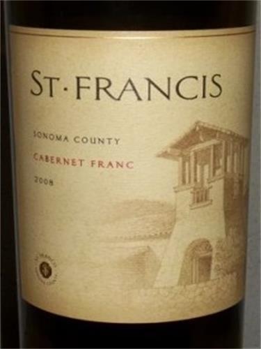 圣弗朗西丝品丽珠干红St Francis Cabernet Franc