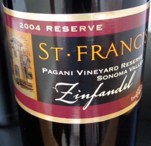 圣弗朗西丝帕加尼园珍藏金粉黛干红St. Francis Pagani Vineyard Reserve Zinfandel