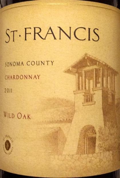 圣弗朗西丝野橡树霞多丽干白St. Francis Wild Oak Chardonnay