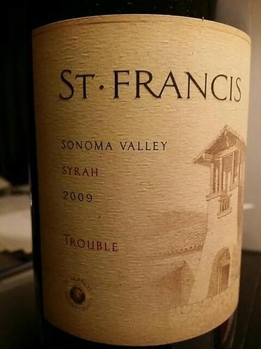 """圣弗朗西丝""""烦恼""""西拉干红St. Francis Trouble Syrah"""