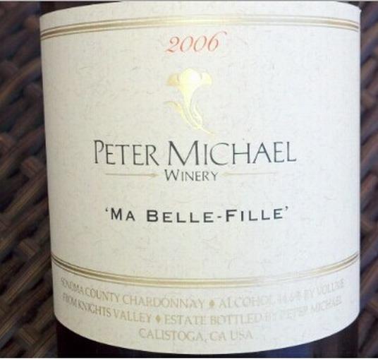 彼特麦克美女霞多丽干白Peter Michael Winery Ma Belle-Fille Chardonnay