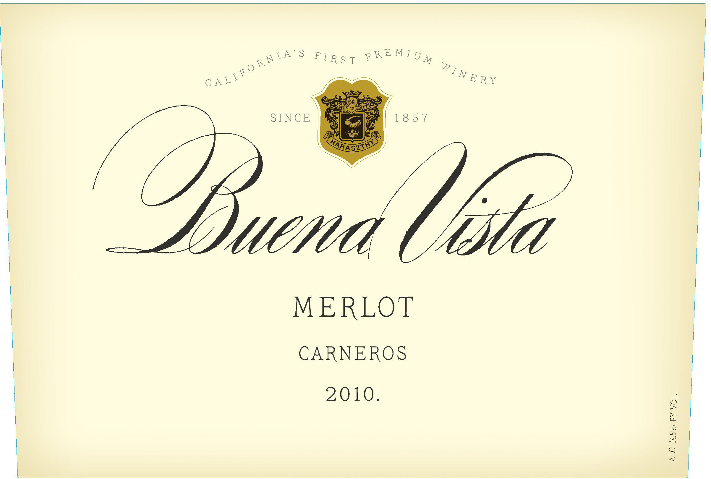 维斯塔卡纳罗斯梅洛干红Buena Vista Winery Carneros Merlot
