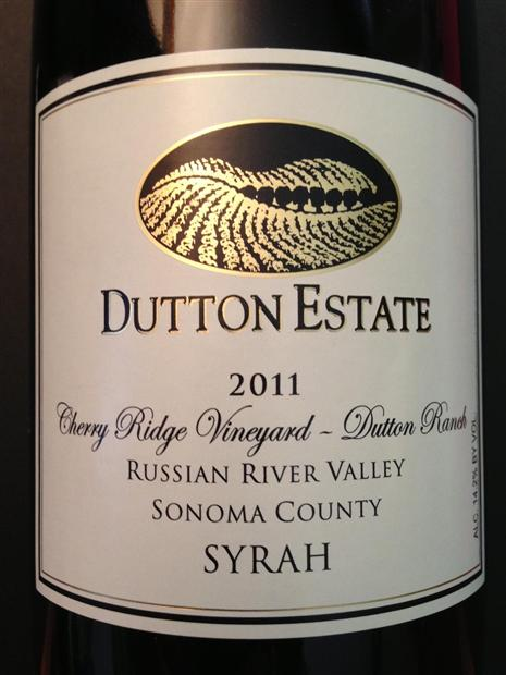达顿达顿牧场西拉干红Dutton Estate Dutton Ranch Syrah
