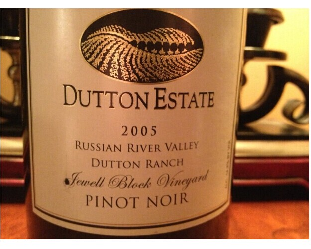 达顿朱厄尔庄园黑皮诺干红Dutton Estate Dutton Ranch Jewell Block Vineyard Pinot Noir