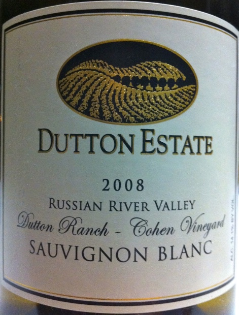 达顿科恩庄园长相思干白Dutton Estate Dutton Ranch Cohen Vineyard Sauvignon Blanc