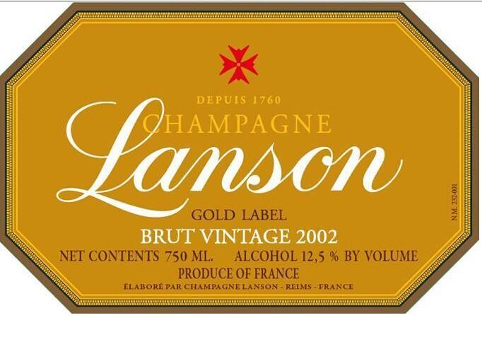 岚颂金标干型香槟Champagne Lanson Gold Label Brut