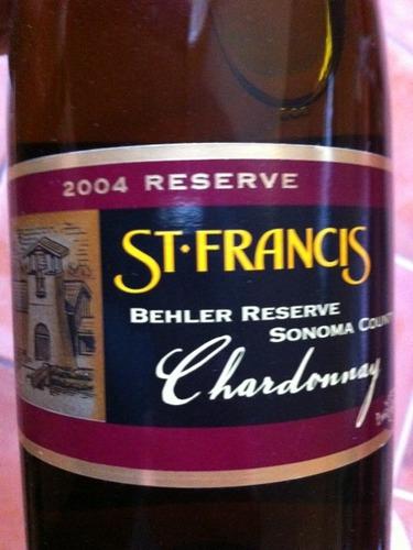 圣弗朗西丝贝勒园珍藏霞多丽干白St. Francis Behler Reserve Chardonnay