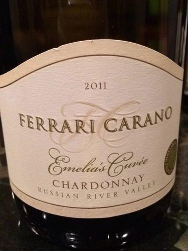 法拉利卡诺爱为丽亚斯特酿霞多丽干白Ferrari-Carano Emelia's Cuvee Chardonnay