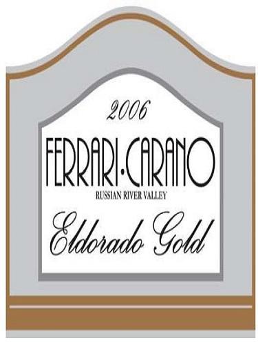 法拉利卡诺黄金国度甜白Ferrari-Carano Eldorado Gold
