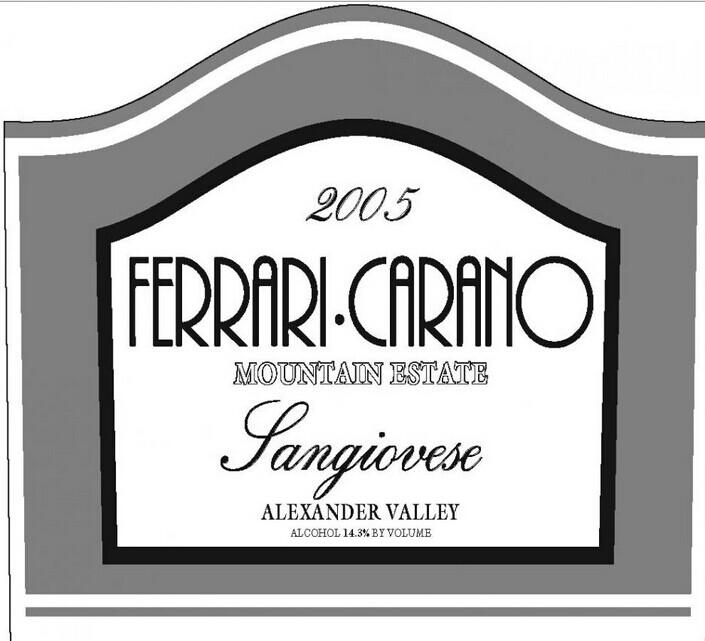 法拉利山园桑娇赛维干红Ferrari-Carano Mountain Estate Sangiovese