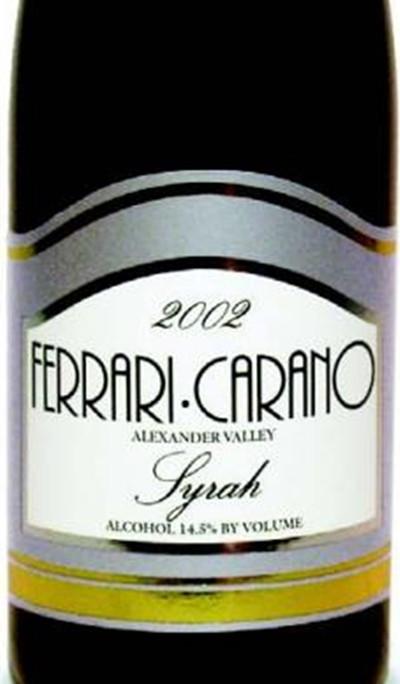 法拉利卡诺酒庄西拉干红Ferrari Carano Syrah