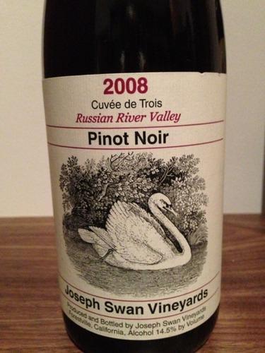 约瑟夫斯旺三号系列黑皮诺干红Joseph Swan Vineyards Cuvee de Trois Pinot Noir
