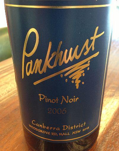 潘荷斯黑皮诺干红Pankhurst Pinot Noir
