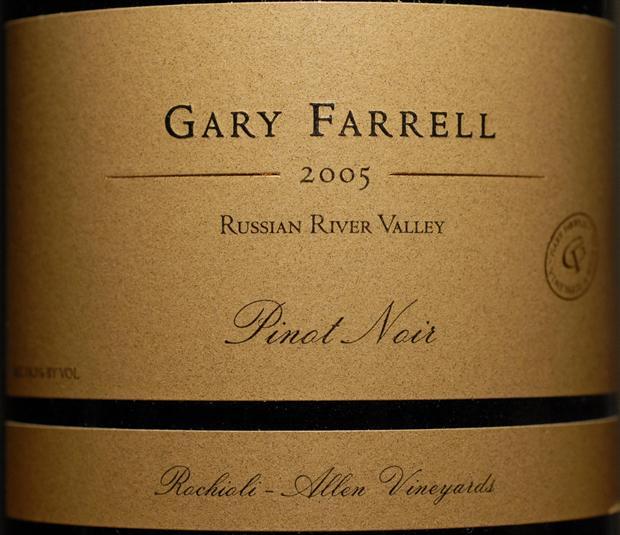 法雷尔艾伦庄园黑皮诺干红Gary Farrell Allen Vineyard Pinot Noir