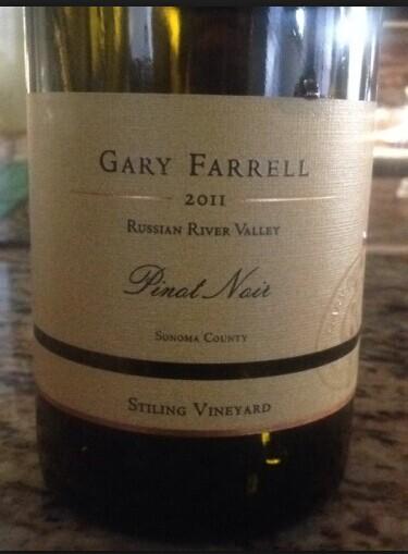 法雷尔消能庄园黑皮诺干红Gary Farrell Stiling Vineyard Pinot Noir