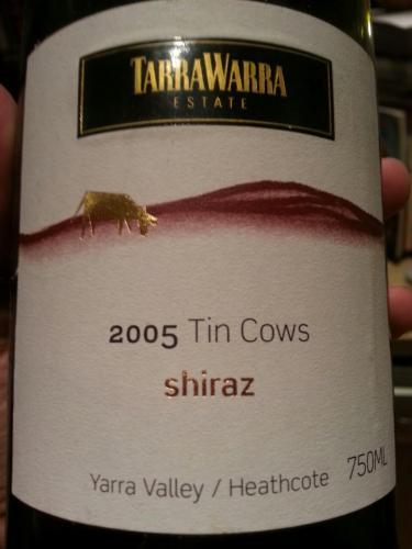 泰拉若拉奶牛西拉干红TarraWarra Estate Tin Cows Shiraz