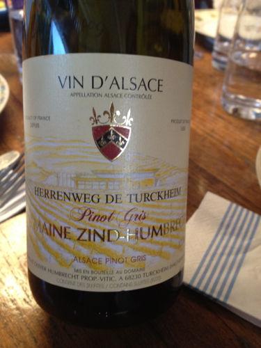 鸿布列什图克汗-埃连维园灰皮诺干白Domaine Zind-Humbrecht Herrenweg de Turckheim Pinot Gris