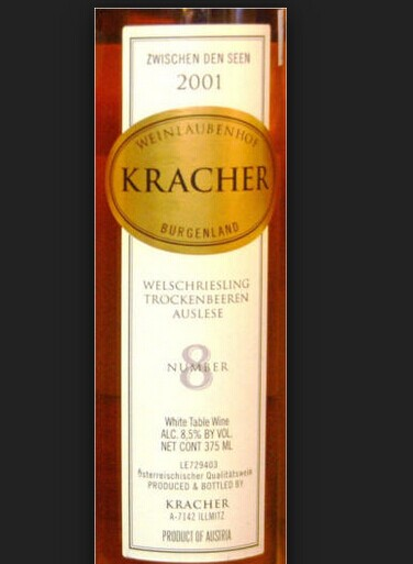 Alois Kracher #8 Welschriesling Trockenbeerenauslese Zwischen Den Seen