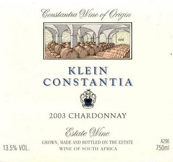 克莱坦亚霞多丽干白Klein Constantia Chardonnay