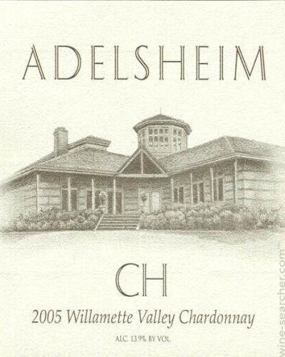 爱德森霞多丽干白(未经橡木桶)Adelsheim CH (Unoaked Chardonnay)