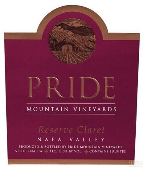 傲山珍藏克莱干红Pride Mountain Vineyards Reserve Claret