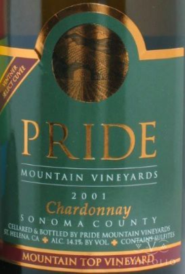 傲山酿酒师精选霞多丽干白Pride Mountain Vineyards Vintner Select Chardonnay