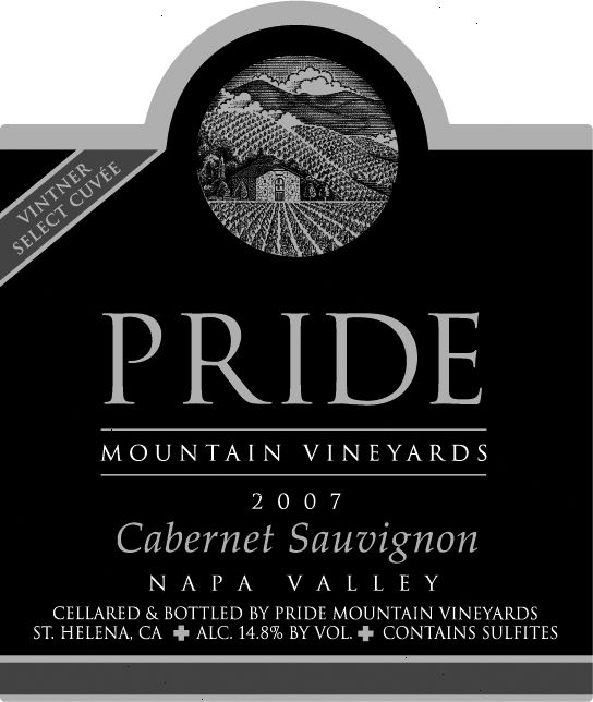 傲山酿酒师精选赤霞珠干红Pride Mountain Vineyards Vintner Select Cabernet Sauvignon
