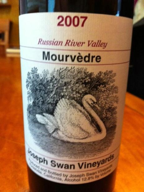 约瑟夫斯旺慕合怀特干红Joseph Swan Vineyards Mourvedre