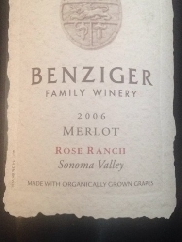 本齐格梅洛桃红Benziger Family Winery Ranch Merlot Rose