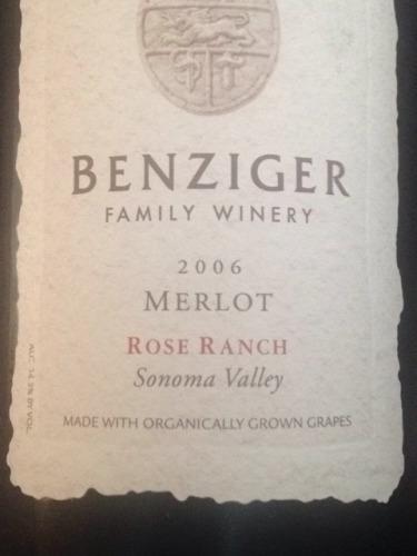 本齐格梅洛桃红Benziger Family Winery Ranch Merlot Rose