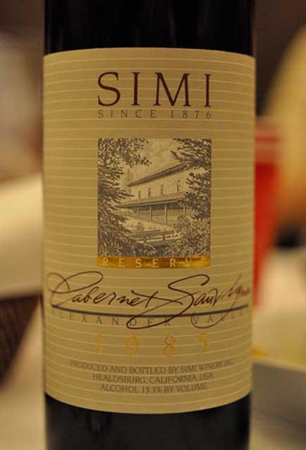 思美珍藏赤霞珠干红Simi Winery Cabernet Sauvignon Reserve